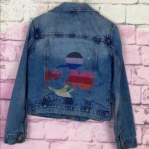 Gap Disney embroidered Mickey Mouse denim jacket
